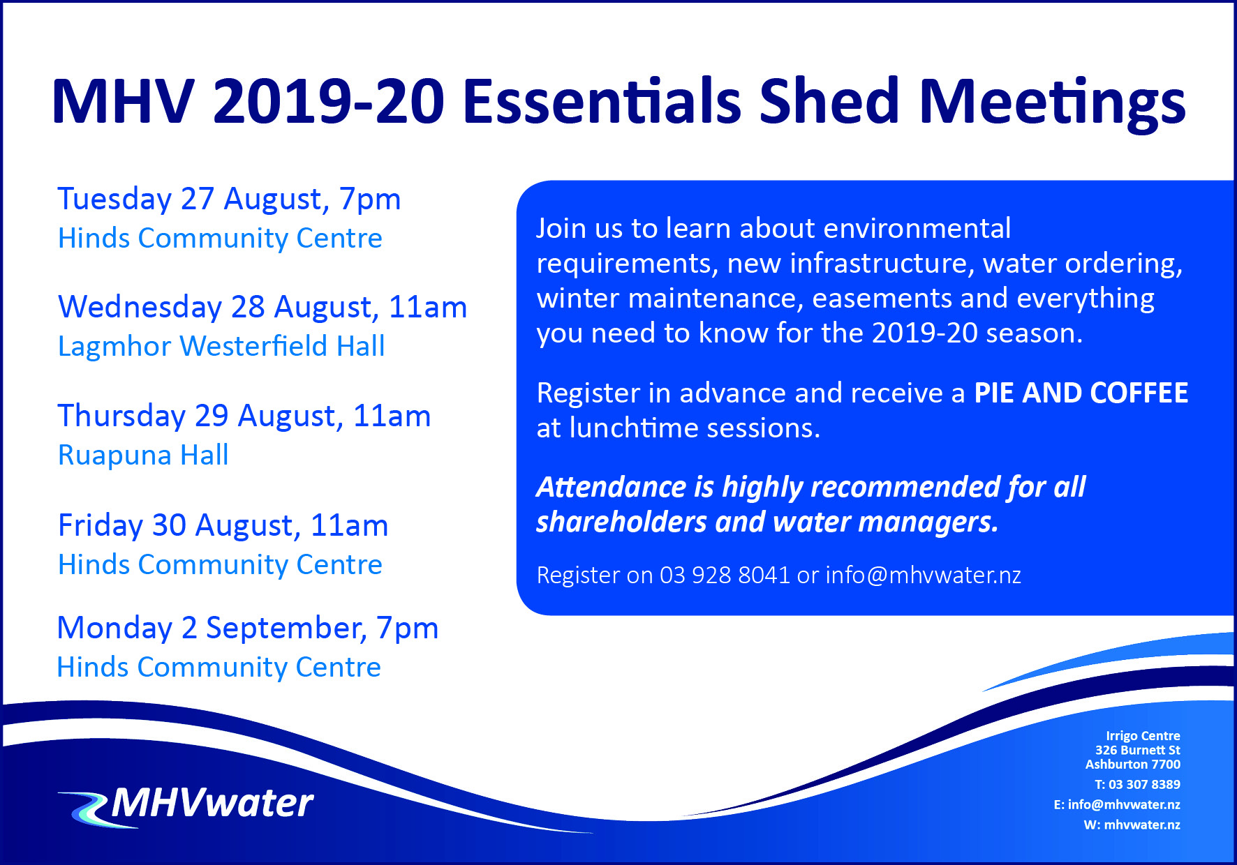 2019 20 Essentials Shed Meeting